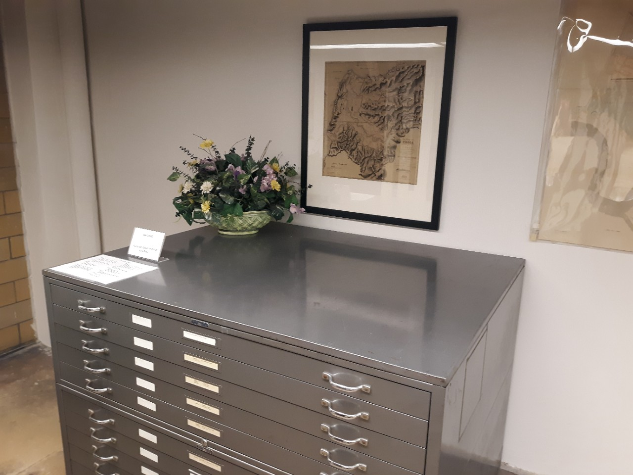Cabinet with 20th c. Greek maps.