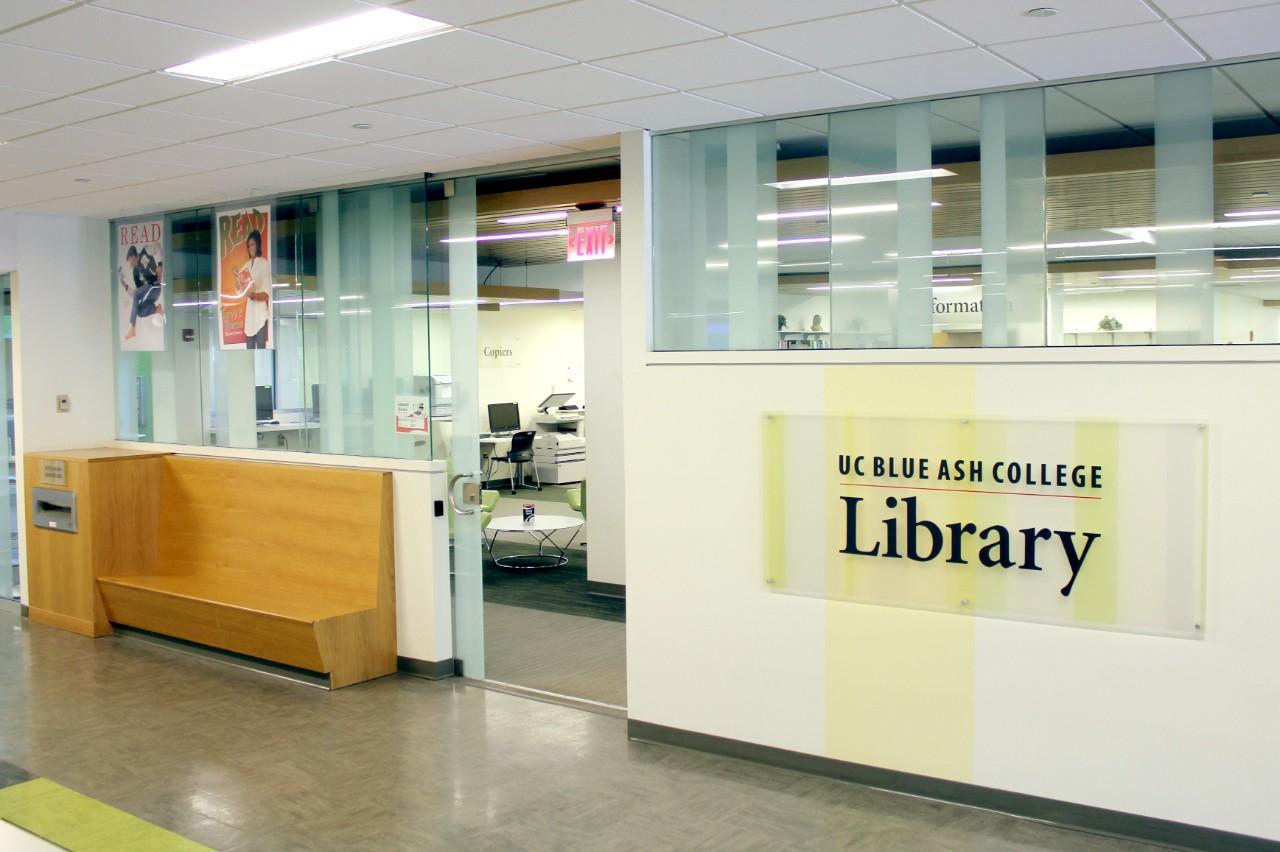 UCBA Library entrance